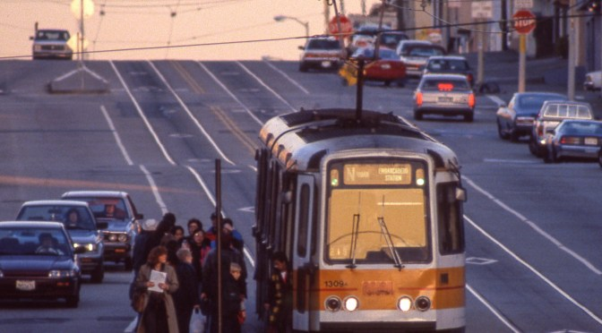 22 years Ago Today: 400mm View of A Boeing on the Streets of San Francisco.