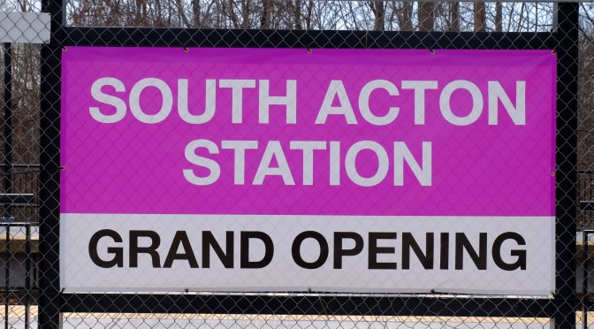 Grand Opening: MBTA's New Station, South Acton, Massachusetts.