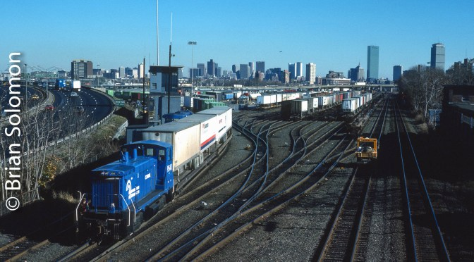 Conrail Classic: Beacon Park Yard, November 1987.