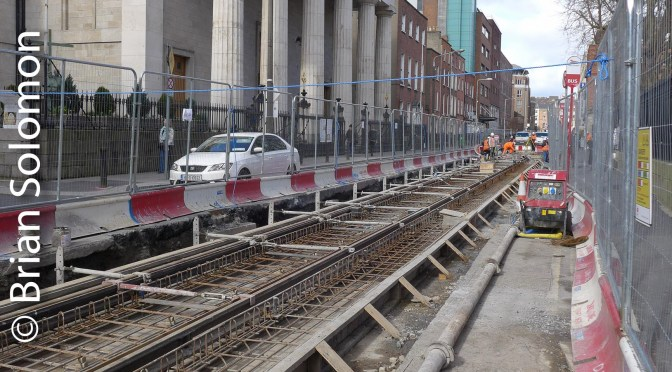 Dublin, 7 March 2016: Just the Tracks! (Tram Tracks, that is)