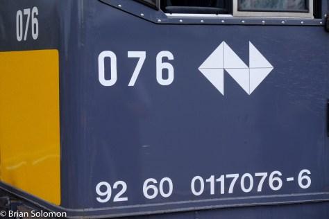 Locomotive 076 cab detail.