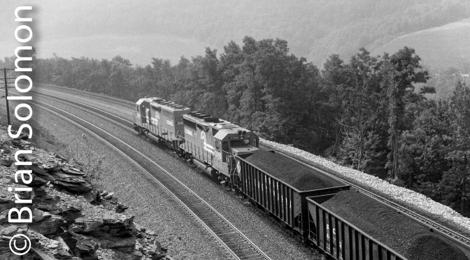Conrail Coal Train in 1988.