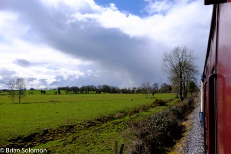 Stormy weather viewed from the Nenagh Branch.