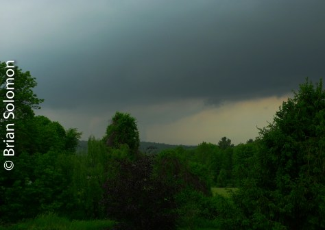 Funnel cloud Monson, 4:55 pm June 1, 2011. Photograph by Brian Solomon with Lumix LX3 digital camera.