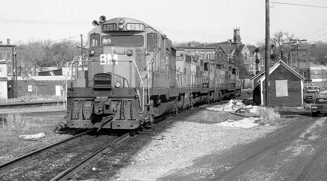 Boston & Maine GP18 at Ayer, Massachusetts.