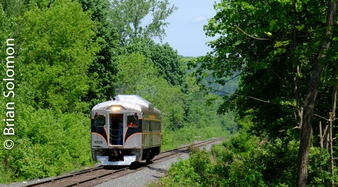 Berkshire Scenic Railway's RDC-1 is on the roll Memorial Day Weekend