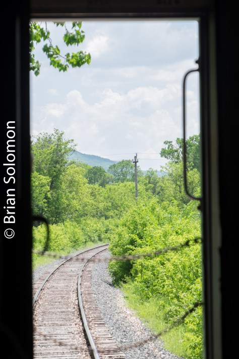 Looking southward on the old B&A branch. At one time Boston & Albany's North Adams Branch connected its namesake with Pittsfield. As late as the 1940s, through trains operated fro Grand Central Terminal to North Adams using the Harlem line to Chatham and B&A mainline to Pittsfield.