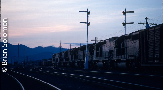 Southern Pacific Siskiyou Line Sunset