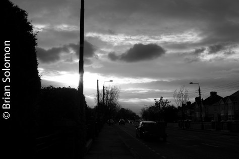 Sunset along the Navan Road. May 2016.
