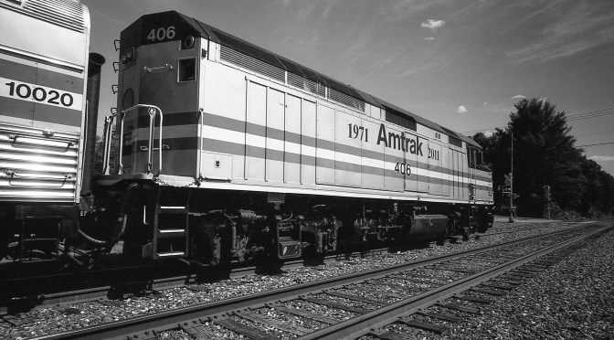 Amtrak F40PH Heritage Locomotive-Finding an Angle.