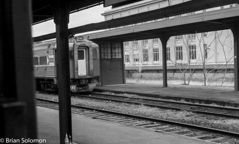 Bummer about the post; but I made this view from the head-end of another RDC at Springfield Union Station in Spring 1979 (April, I think.)