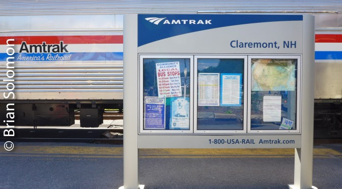 Amtrak Display Train-Claremont Junction, New Hampshire; June 18, 2016.
