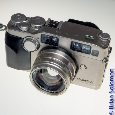 Between 2001 and 2007, I exposed hundreds of rolls of film with this Contax G2 rangefinder. It's a solid and heavy little camera. It is seen here with a 45mm Zeiss lens.