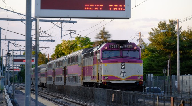 MBTA at Mansfield; Photographing LED displays—five images.