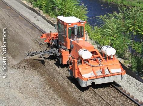 Railway maintenance equipment.