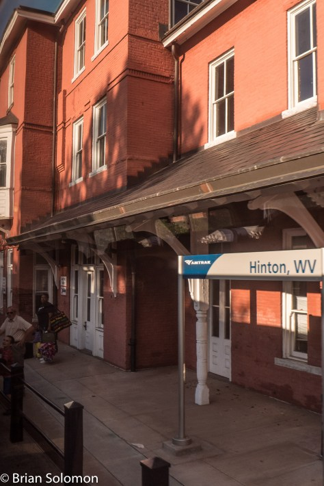 Hinton, West Virginia-one of several small towns still served by the train.