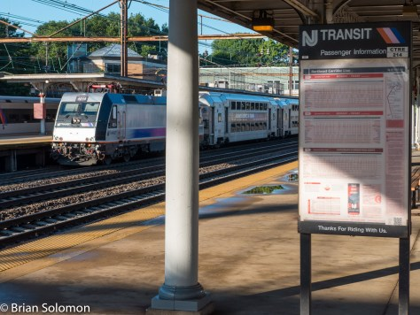 Trenton is served by Amtrak, SEPTA and NJ Transit. Busy place even on a Sunday morning.