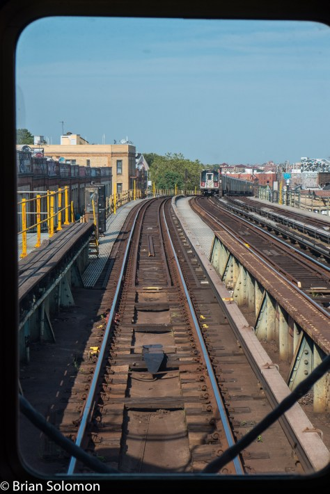 View from the back of the train at 52nd street.