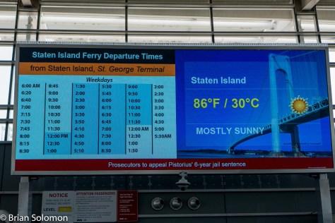 Ferry schedule.