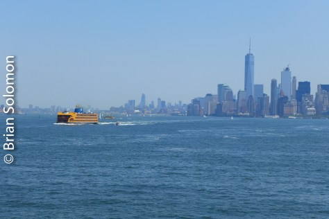 Heading back toward Manhattan passing the outward scheduled ferry.