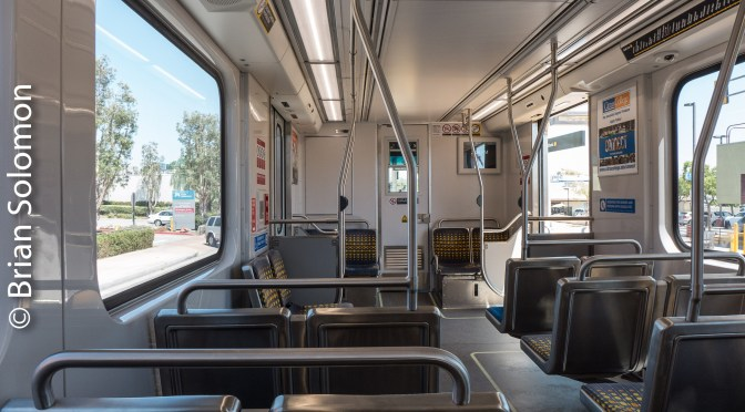 New Kinkisharyo Cars on the Los Angeles Gold Line.