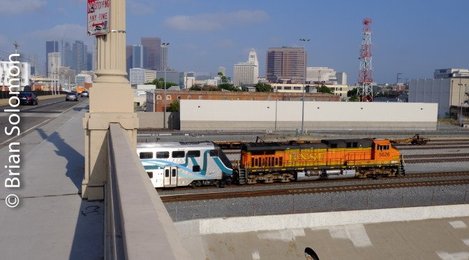 Rails along the Los Angeles River—August 2016.