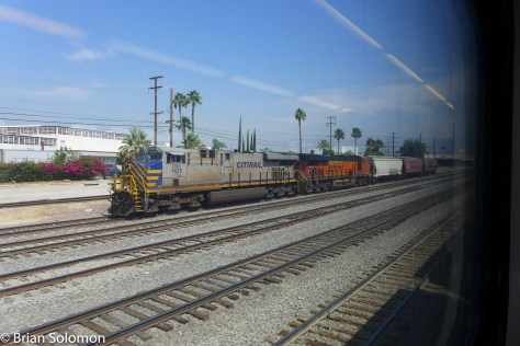 BNSF local freight at San Bernardino.