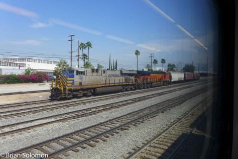 BNSF local freight at San Bernardino.