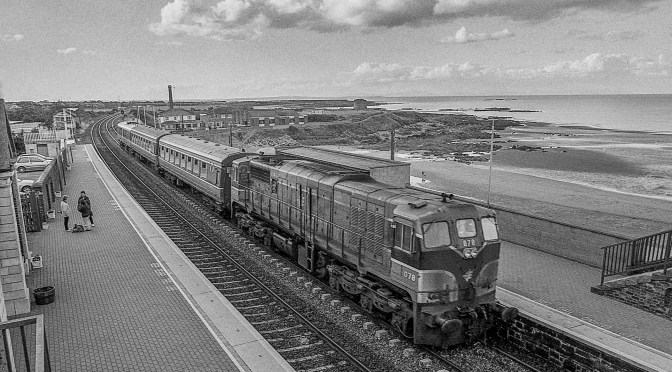 Irish Rail Gem from the Garbage—078 with Cravens at Balbriggan Aug 1998.