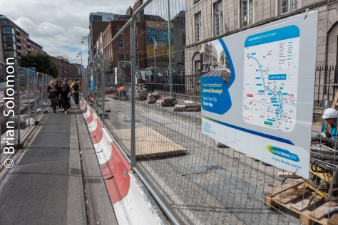 New tracks in Dublin's north inner city. Lumix LX7 photo.