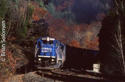 Conrail west of Chester, Massachusetts on October 25, 1996.