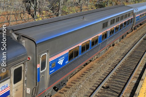 Amtrak 449 at Auburndale, Massachusetts on October 25, 2014.