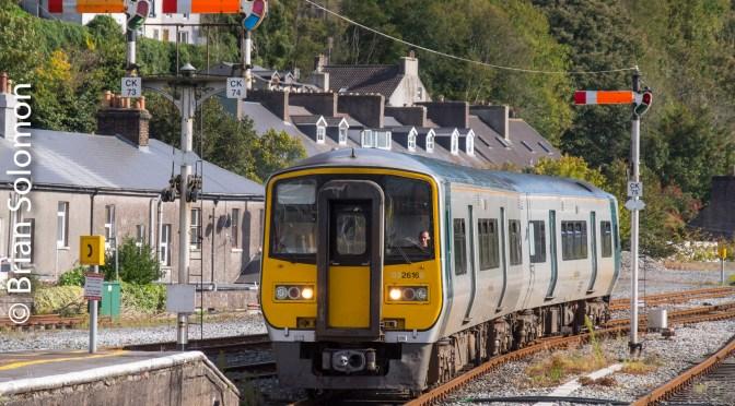 Irish Rail 2616 at Kent Station-Two Views 17 Years Apart.