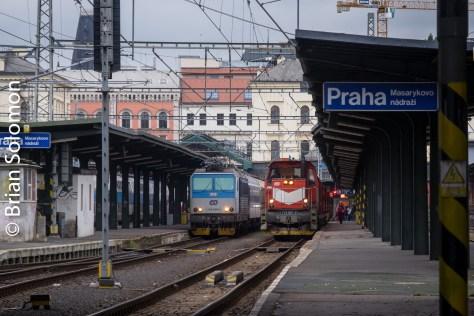 Telephoto view: Prague Masarykovo Nadrazi, FujiFilm X-T1 photo.