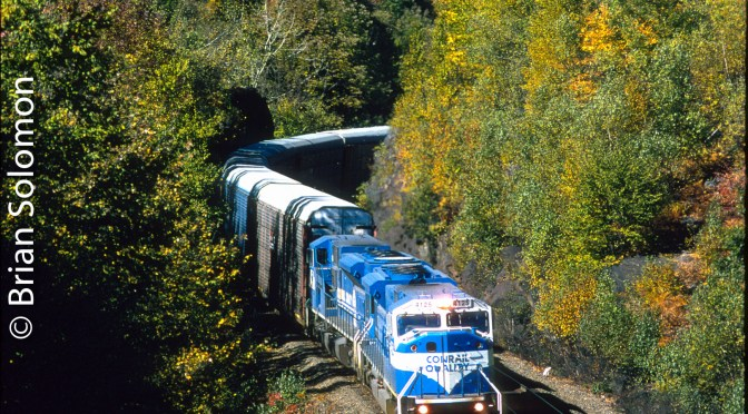 Conrail Classic Chrome—SD80MACs at the Twin Ledges.