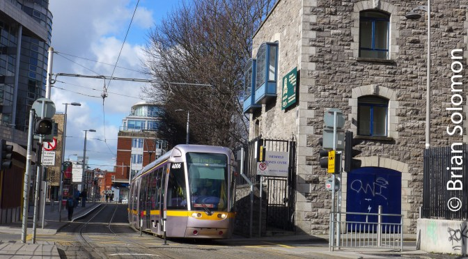 Dublin's LUAS at Smithfield—March 2017.