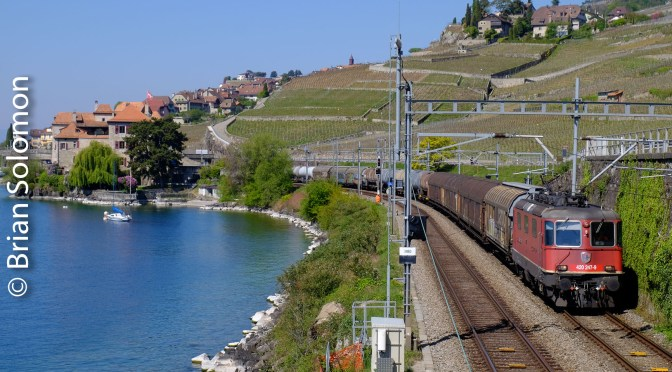 Rails along the Water—St. Saphorin, Switzerland.