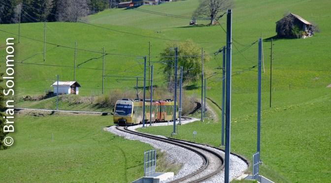 Montreux-Oberland-Bernois Railway near Gruben, Switzerland.