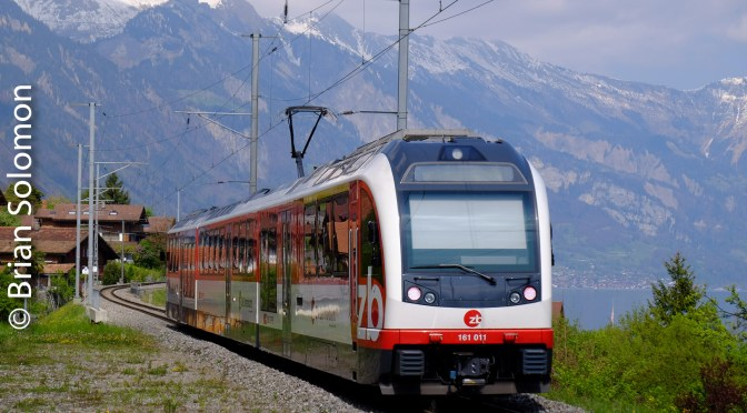 Zentralbahn at Lake Brienz, Switzerland.