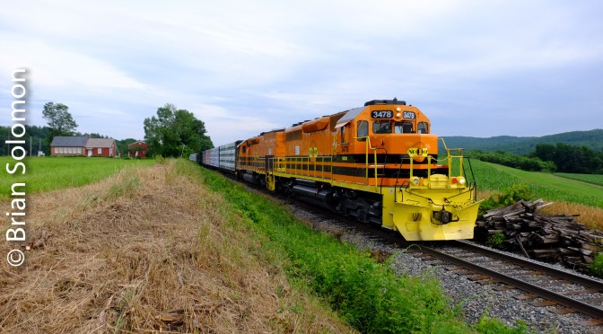 Close and Closer—Compositional Considerations: New England Central at Vernon, Vermont.