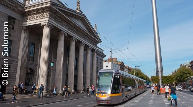 Dublin LUAS Tram Trial at the GPO.
