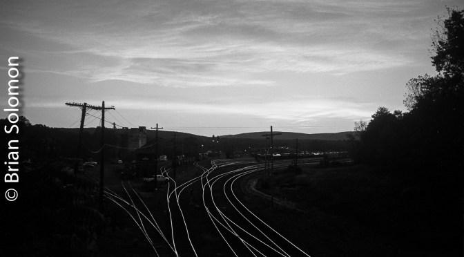 East Deerfield October Sunrise—Ilford Pan F.