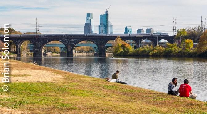 Amtrak Crosses the Schuylkill River—November 2017.