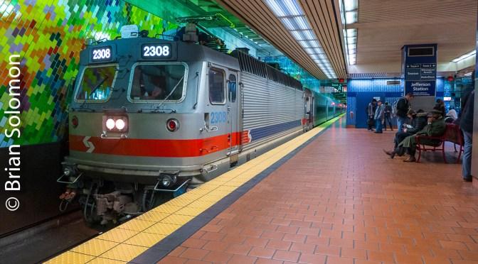 Photographing SEPTA's Rarest Electric at Jefferson Station, Philadelphia