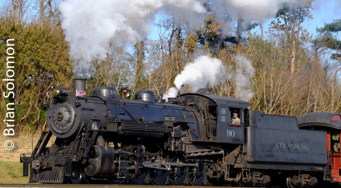 Strasburg No. 90 in Steam.