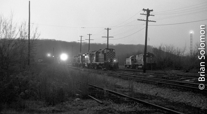 At the End of the Day; Twilight at Mechanicville, New York.