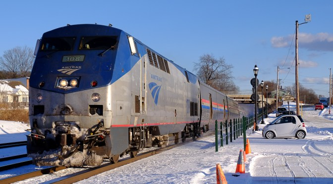 Amtrak in the Snow; f9 and be there.