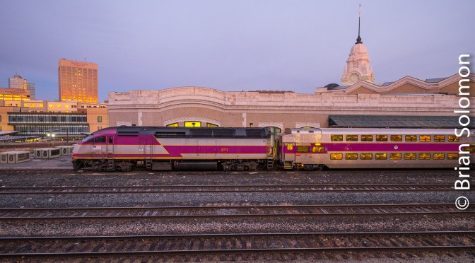 Sunrise at Worcester Union Station