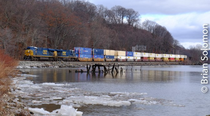CSX Stack Train at Mine Dock Park—January 13, 2018.