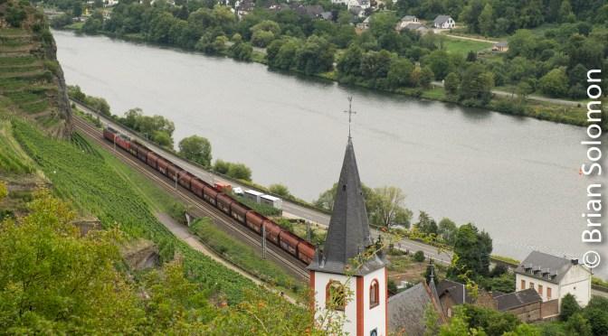 Empty Coal Train Hatzenport, Germany.